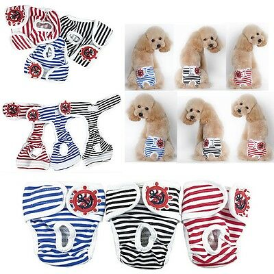 Male/Female Physiological Pants Puppy Stripe Sanitary Diapers Comfy Underwear