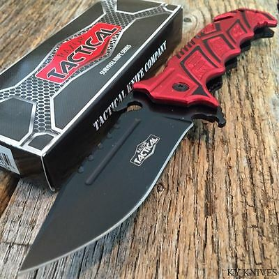 """RAZOR TACTICAL Rescue 8.5"""" Spring Assisted Open BOWIE TACTICAL Pocket Knife RD"""