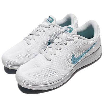 Wmns Nike Revolution 3 White Blue Women Running Shoes Sneakers 819303-104