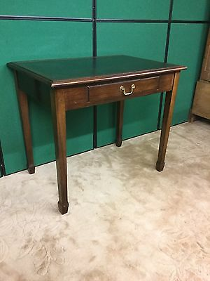 Mahogany Desk With Inset Leather Top And Drawer Under