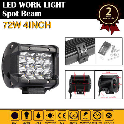 4inch 36W CREE Led Work Light Bar Spot Flood Offroad Driving Lamp Truck 4WD