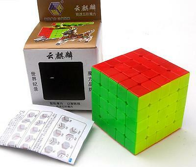 YuXin YUN Kylin  5x5x5 Twisty Puzzle Cube Speed  Magic Cube Toy Gift Stickerless