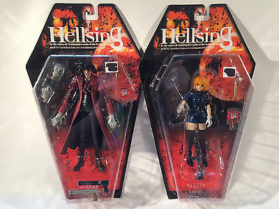 Hellsing Alucard and Seras Victoria Yamato Toycom Lot of 2 figures Sealed Mint
