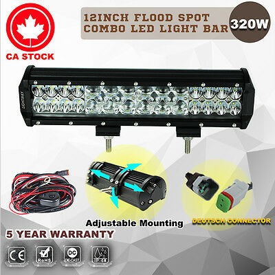 12inch 320W LED Light Bar Flood Spot Combo Work Driving Lamp Philips Lumileds