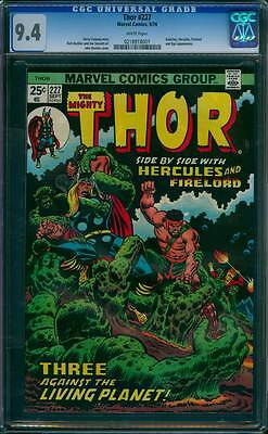 Thor # 227  Three Against the Living Planet !  CGC 9.4 scarce book !