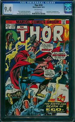Thor # 228  The Birth and death of Ego the Living Planet ! CGC 9.4 scarce book !