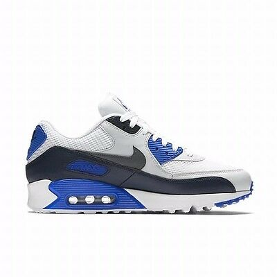 Nike AIR MAX 90 ESSENTIAL MEN'S RUNNING SHOE'S WHITE/NAVY/BLUE US 11