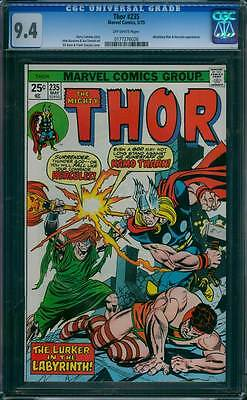 Thor # 235  The Lurker in the Labyrinth !  CGC 9.4 scarce book !
