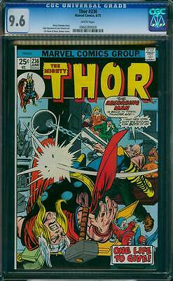 Thor # 236  The Absorbing Man is Back in Town !  CGC 9.6 scarce book !