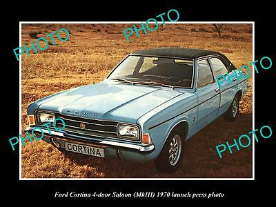 Old Large Historic Photo Of 1970 Ford Cortina 4 Door Launch Press Photo