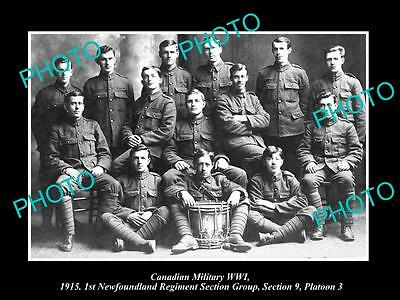 OLD HISTORIC PHOTO OF CANADIAN MILITARY WWI 1st NEWFOUNDLAND REGIMENT, S9 P3