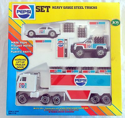 Remco Pepsi Heavy Gauge Steel Trucks Set #11134 Metal & Plastic NIB  #4118