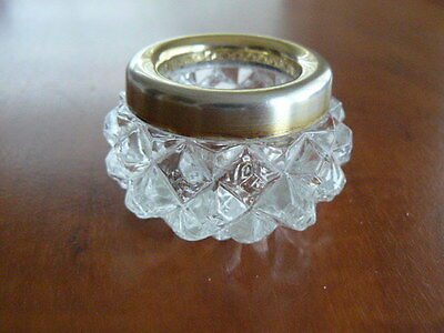 A nice Russian 875 Silver and,crystal glass  salt Cellar