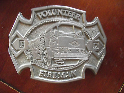 Vintage Volunteer Fireman Belt Buckle