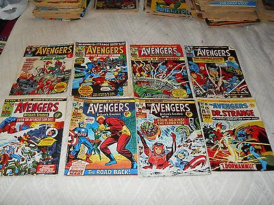 MARVEL. The Avengers Magazine Vintage / 1973 x 8 inc No 2 and No 3 editions.