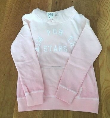 NWT H&M Girls Ombre Pink Sweatshirt with hood Size 8-10Y US