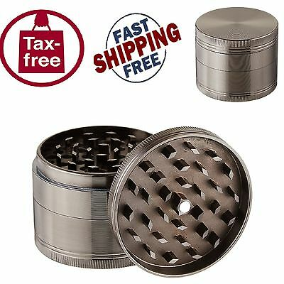 4 Piece Tobacco Grinder Spice Herb Herbal Zink Alloy 2.5 inch Crusher Smoke New