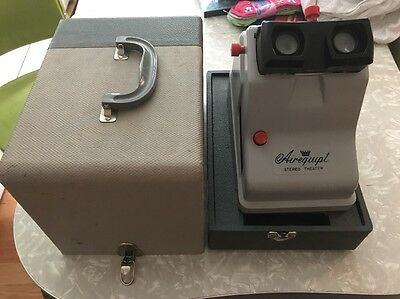 RARE Airequipt Stereo Theater Model V Slide Viewer with Case For Parts Only