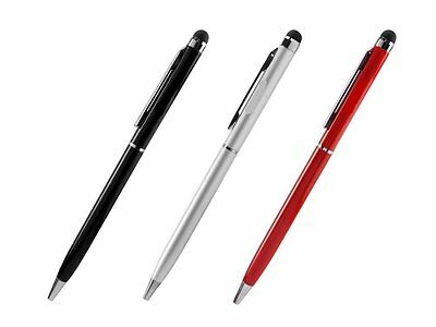 T-Mobile REVVL 2 in 1 Stylus Pens [ 3 Pack Bonus] – Silver, Red & Black
