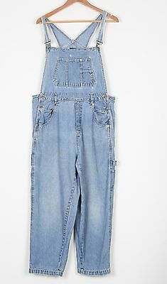 Denim Dungarees UK 16 XL  Fitted   14 Large Oversized Blue (84A)
