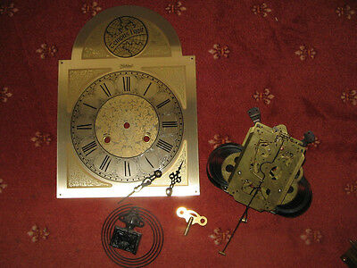 Longcase Grandfather clock face and parts for spares 1980s clock 99p AUCTION