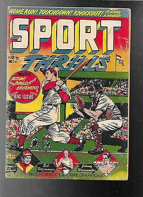 Sport Thrillers 14 1951 Johnny Weissmuller Life Story   good