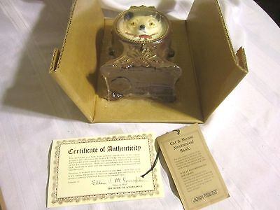 Vintage Cast Iron The John Wright Penny Bank Collection Acrobatic Cat W/box