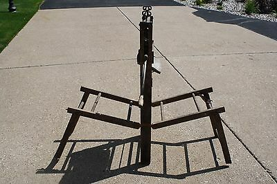 Antique 1896 Anchor Brand Clothes Wringer Folding Bench Lovell Manufacturing Co