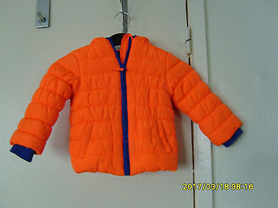 mothercare 18-24 months boys hooded puffer jacket
