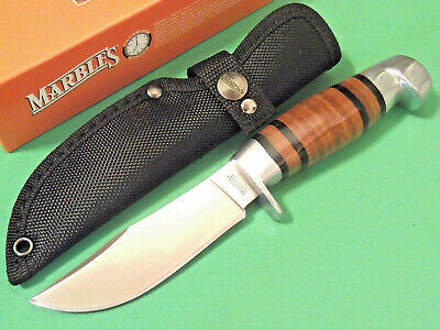 "MARBLES MR248 Stacked Leather fixed blade hunting knife 8 1/2"" overall NEW!"