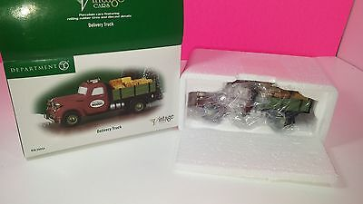 Department 56 Vintage Cars Delivery Truck Kid Glove Movers Christmas Figure Mint