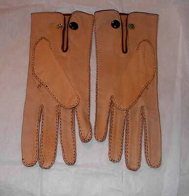 Vintage Men's French Kid Gloves 7-1/2 Vallier RARE Museum Quality