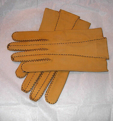 Vintage Men's French Kid Gloves 7-1/2 RARE Museum Quality