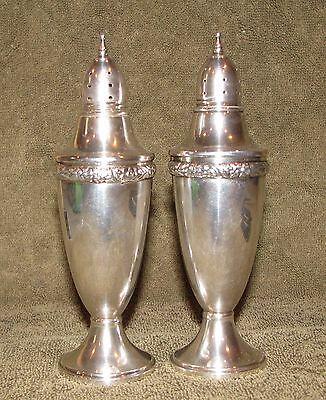 Beautiful Large Pair Revere Silversmiths Sterling Silver Salt & Pepper Shakers