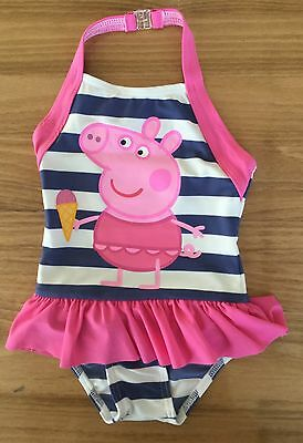 Baby Girls Pink Swimming Costume with Peppa Pig Detail. 18-24 months & 2-3 years