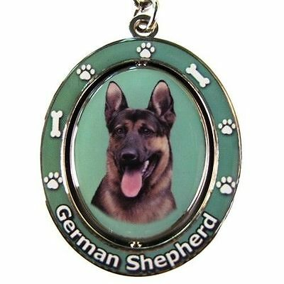"GERMAN SHEPHERD [Black & Tan]  ""Spinning"" Key Chain"