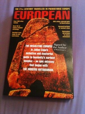 Julian Cope Signed Megalithic European Book First Edition Hardback
