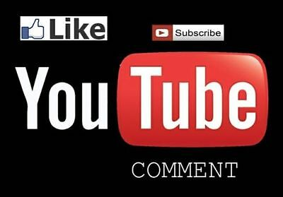 Get 30 youtube real like ,30 real subscribe and  more 5 real positives comments
