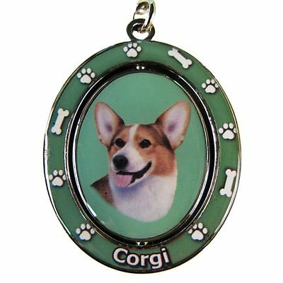 "WELSH CORGI   ""Spinning"" Key Chain"