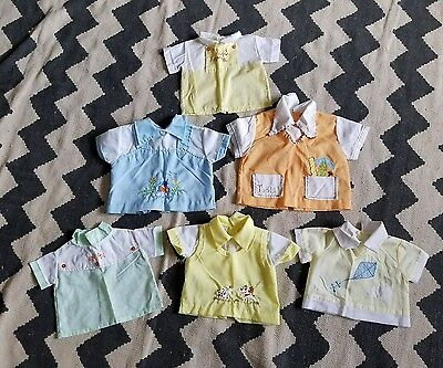 VINTAGE Baby clothes lot boys tops True VTG embroidered           /DC