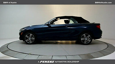 2017 BMW 2 Series 230i 230i 2 Series New 2 dr Convertible Automatic Gasoline 2.0L 4 Cyl Deep Sea Blue M