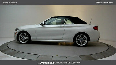 2017 BMW 2 Series 230i 230i 2 Series New 2 dr Convertible Automatic Gasoline 2.0L 4 Cyl Mineral White M