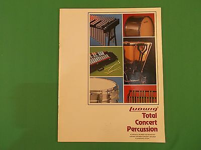 Vintage 1982 - 1984 Ludwig Musser Total Concert Percussion Catalog