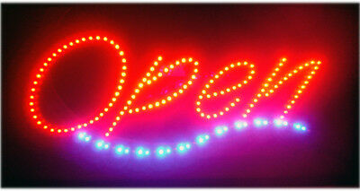 Led Open Sign - 25*12 With Motion 2-Color Very Bright