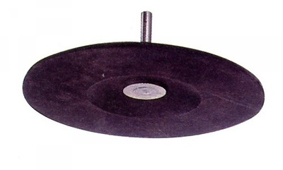 Rubber pad 125 Mm Mm With Stem + 6 Flanges Tools Manual