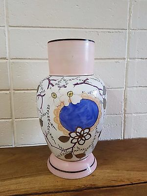 Stunning Antique Vintage Style Hand Painted Porcelain Vase Highly Collectable