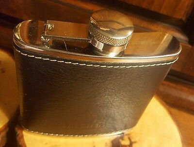 Designer Fossil 5oz Gen. Leather Whiskey, Liquor Container Stainless Steel Flask