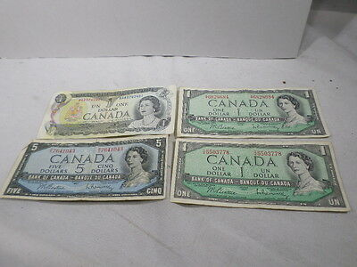 1954 Canadian 1 5 Dollar Notes Bank Lot