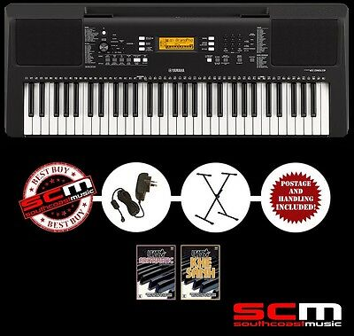 YAMAHA PSRE363 KEYBOARD with STAND, POWER SUPPLY, 2 DVDS & 3 YEAR WARRANTY