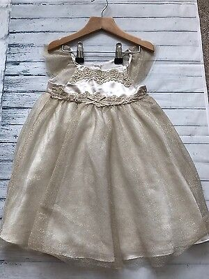 Baby Girls Clothes Dresses 18-24 Months- Cute Golden Sparkly Party Dress